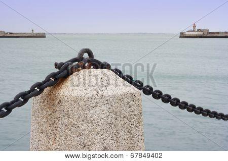 Marine Landscape At Promenade Of Port