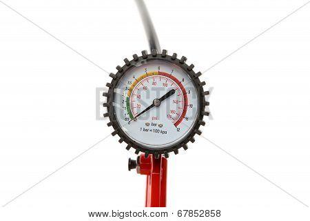 Manometer for car tyre pressure setting.