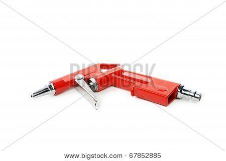 Red air compressor gun.