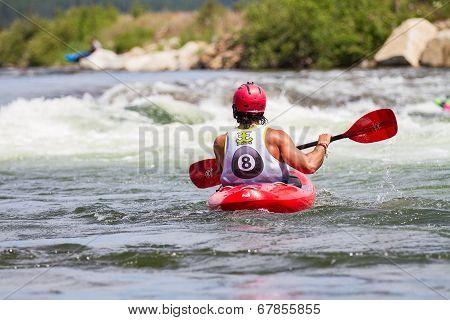 Kayaker on the river