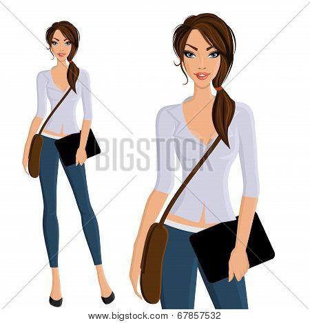 Girl student portrait