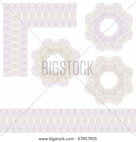 Guilloche Rosette And Borders