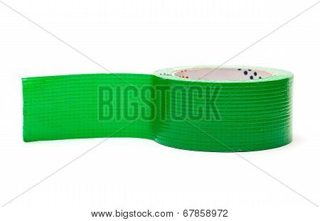 Roll Of Green Adhesive Tape