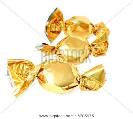Candy In Golden Foil