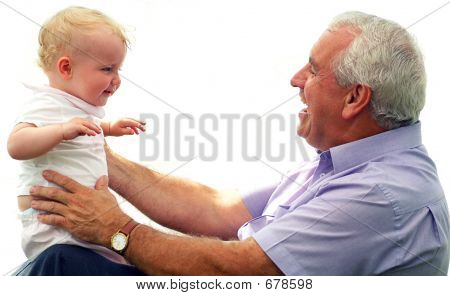 Grand Father And Grandaughter