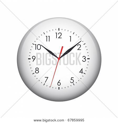 Clock face. Spherical glossy button