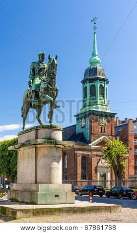 Equestrian Statue Of King Christian X In Copenhagen
