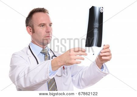 Radiologist Or Orthopaedic Surgeon With An X-ray