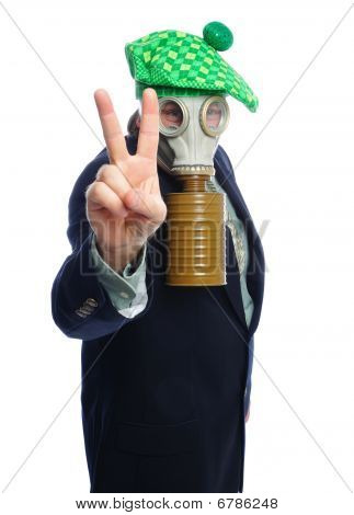 Gas Mask Business Man