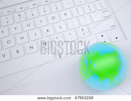 Earth on the keyboard