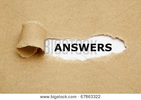 Answers Torn Paper