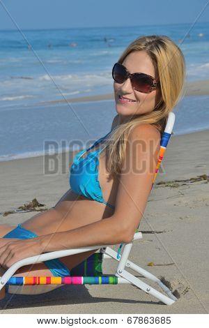 Attractive Woman in Bikini