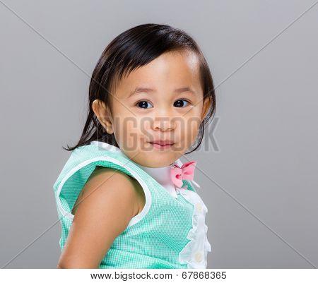 Mixed race baby girl