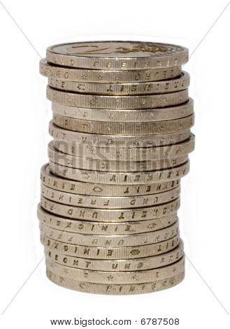 Two Euro Coin Stack
