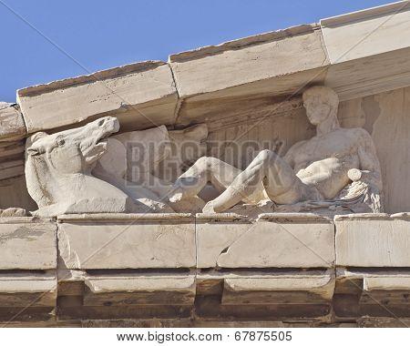Athens Greece, Parthenon west pediment detail