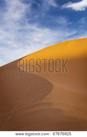 Beautiful dunes in Sahara desert, Morocco
