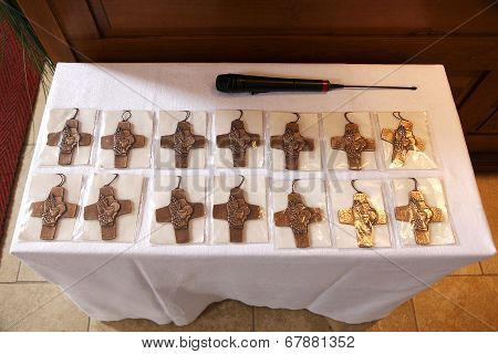 Holy Crosses At The Communion