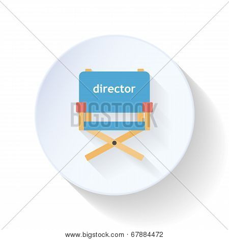 The Director's Chair Flat Icon