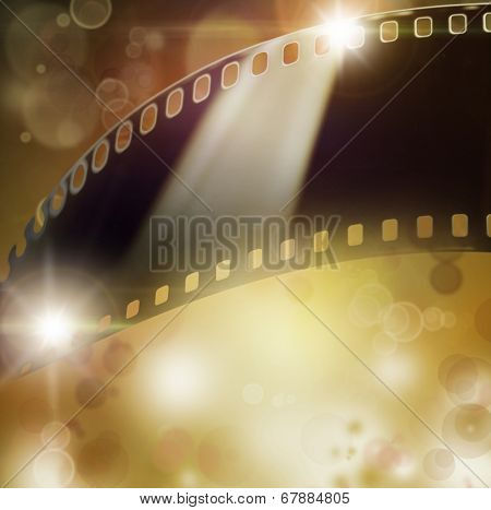 Film negative frame on abstract background