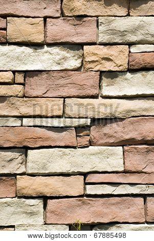 Brown color decorative design uneven stone stucco wall