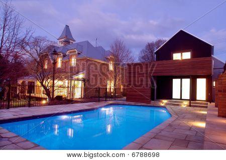 Casa de ladrillo rojo