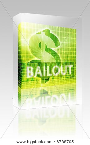 Bailout Finance Illustration Box Package Box Package