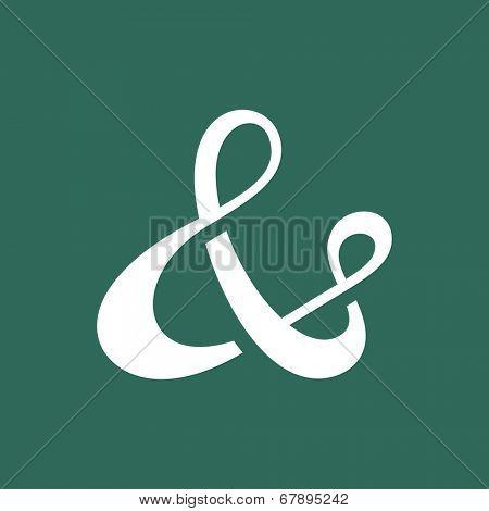 Custom ampersand symbol for wedding invitation. Vector illustration