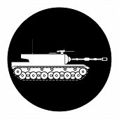 pic of panzer  - Modern heavy tank on white background - JPG