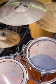 foto of drum-kit  - A closeup take of a classic drum kit - JPG