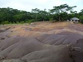 stock photo of chamarel  - Chamarel Seven Coloured Earths On Mauritius Island - JPG
