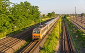 picture of railroad yard  - Regional express train in Strasbourg  - JPG
