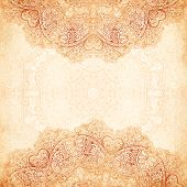 picture of mehndi  - Ornate vintage background in mehndi style with place for your text - JPG