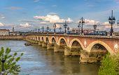 pic of bordeaux  - Pont de pierre in Bordeaux  - JPG