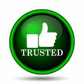 stock photo of trust  - Trusted icon - JPG