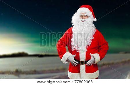 Santa Claus lost in the Lapland