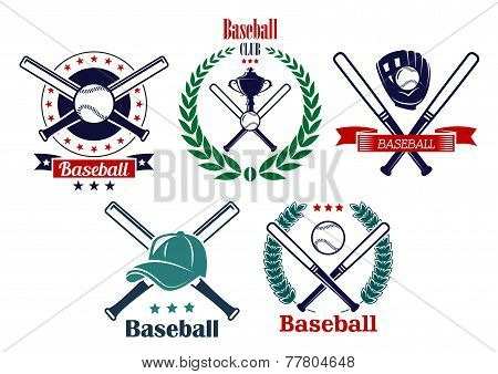Baseball sporting heraldic emblems
