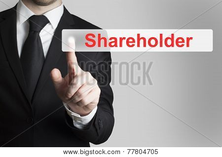 Businessman Pushing Button Shareholder