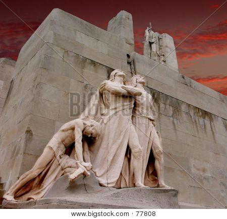 Figures On Vimy Memorial