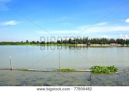 Chao Phraya River In Thailand.
