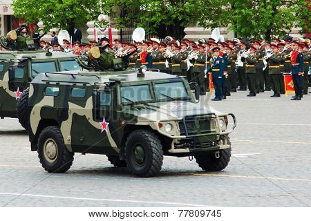 MOSCOW - 6 May 2010: GAZ-233014