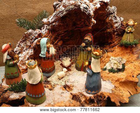 Nativity Scene With Holy Family
