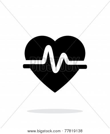 Pulse heart icon on white background.