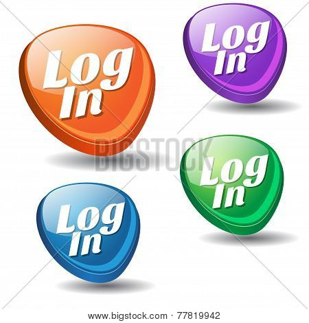 log In Colorful Vector Icon Design