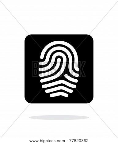 Fingerprint and thumbprint icon on white background.