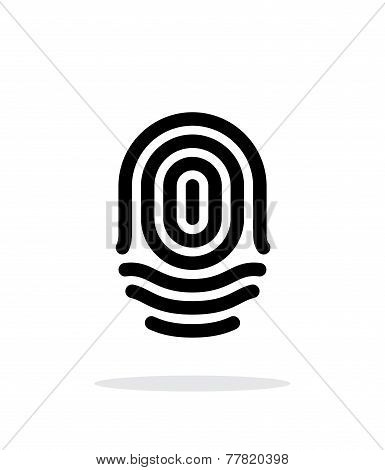 Fingerprint whorl type icon on white background.