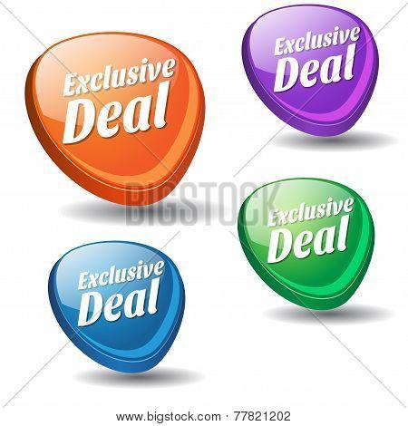Exclusive Deal Colorful Vector Icon Design