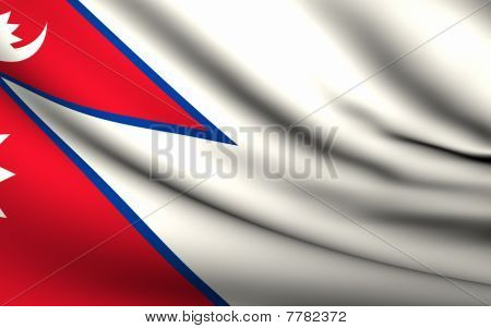 Flying Flag Of Nepal | All Countries Collection |