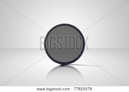 isolated nd filter on white background
