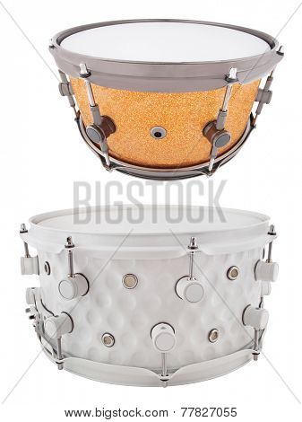 The image of a drum under a white background