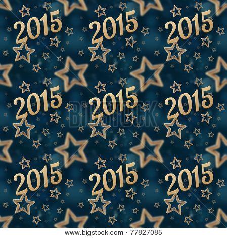 New Year On The Night Stars Seamless Pattern 2